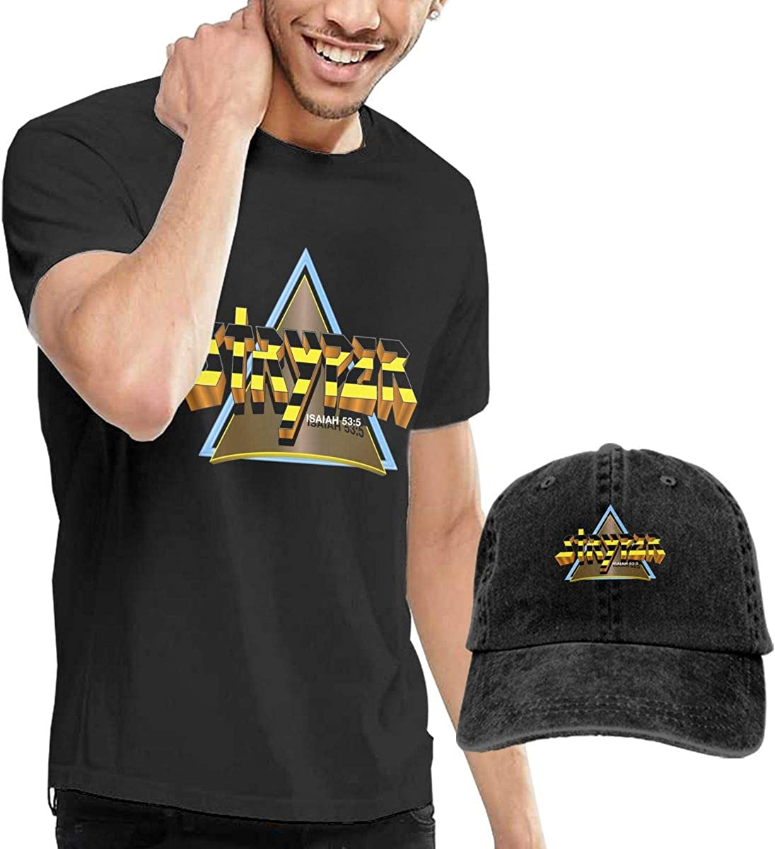 Larry C Adamson Stryper Mens Short Sleeve T-Shirt Black