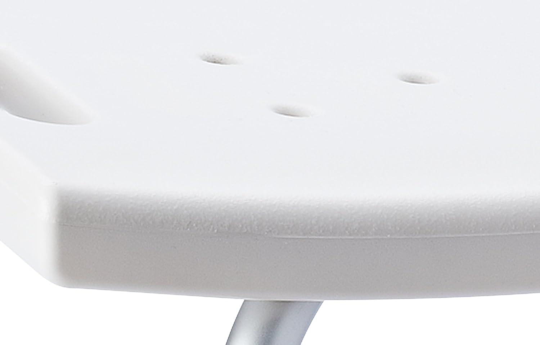 RIDDER Assistent A11 Badezimmer-Stuhl mit Rückenlehne, Hocker,  höhenverstellbar, weiß