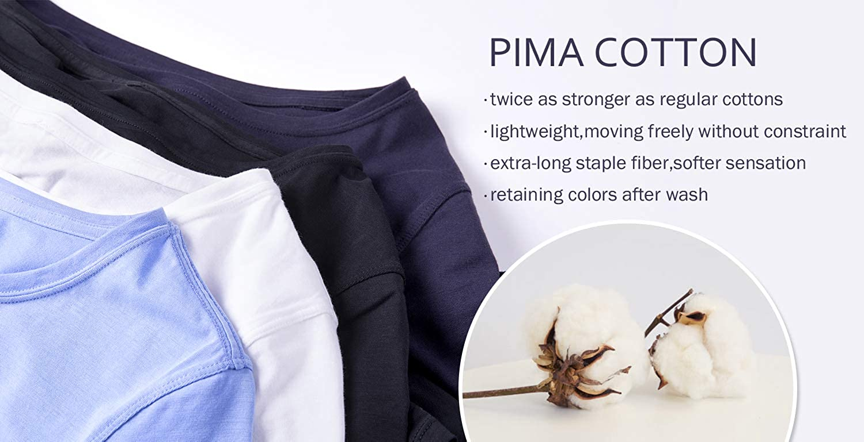 CRZ YOGA Womens Pima Cotton Lightweight Loose Fit Workout Sports Tank Top