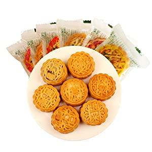 Helenou666 Chinese Traditional Mid-Autumn Day Festival Food Mooncakes Various Fruit Flavor and Five Kernels around 20pcs 17.6oz (fruit flavor mixed)