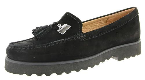 Wirth - Mocasines de Piel para Mujer Negro Negro, Color Negro, Talla 6: Amazon.es: Zapatos y complementos