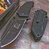 Cheap Mtech Xtreme Black Stone Washed Heavy Duty Tactical Knife