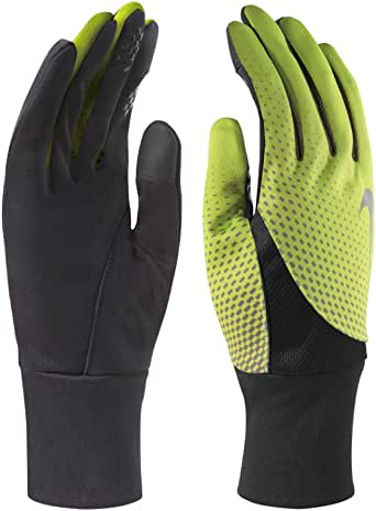 Nike Mens Tailwind Dri-Fit Conductive Touch Athletic Gloves Black M