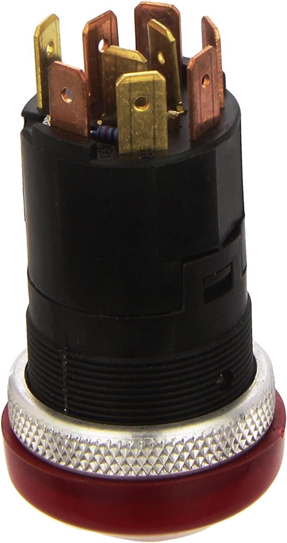 Hella 6hf 003 916 011 Warnblinkschalter Druckbetätigung 12v Einbau Schalterbeleuchtung Rot Mit Glühlampe Auto