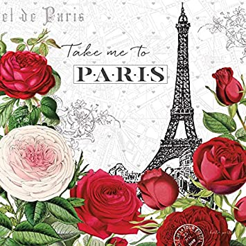 Paris is always a good ideawatercolor rosesgifts for her mothers day gift pink roses wall art paris wall art