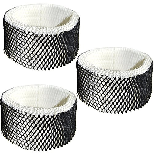 HQRP Filter 3-Pack for Sunbeam SWF62-CN1#SWF-62 SWF62 SF-212 SF212 SCM1100 SCM1701 SCM1702 SCM1761 SCM1762 SCM2409 SCM41000 Humidifier Coaster