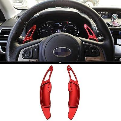 2Pcs Aluminum Shift Paddle Blade Car Steering Wheel Paddle Shifter Extension Cover For Subaru BRZ Impreza WRX Legacy XV Crosstrek (Red): Automotive [5Bkhe1515620]
