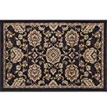 Charlotte Traditional Oriental Black Scatter Mat Rug, 2′ x 3′ For Sale
