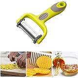 FAMOORE Potato Apple Peeler Fruit Vegetable Spud Speed Cutter Skin-peeler Planing Three In One Multifunction Stainless…