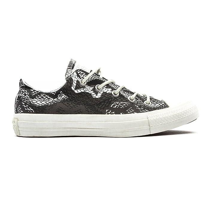 Converse Chuck Taylor (Chucks) All Star Ox Sneaker, Unisex-Erwachsene Grau / Weiß