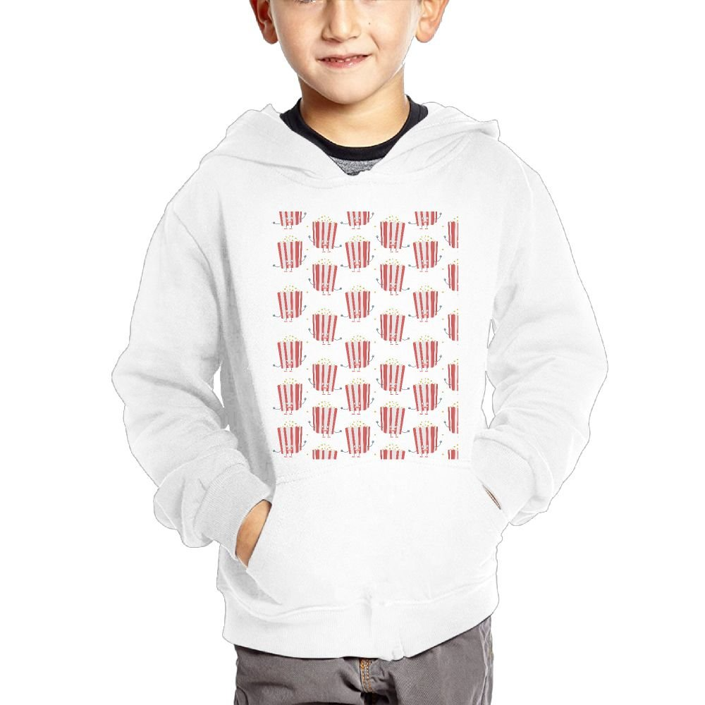 JIANGSHAN Popcorn Comfortable Hooded Pocket Sweater for Children Spring//Autumn//Winter Outfit Long-Sleeved Hoodie