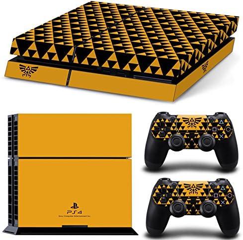 qkonsole PS4 Triforce Diseño Skin Sticker Playstation 4 vinilo protector de pantalla – mate: Amazon.es: Electrónica