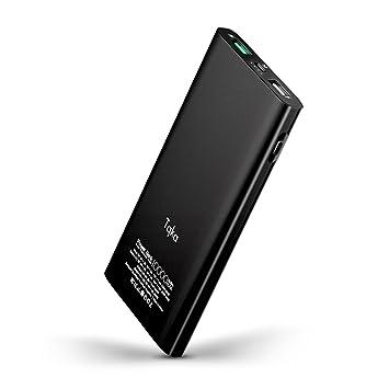 Tqka Cargador Portátil 10000mAh Carga Rápida 3.0, Quick Charge 3.0 Base Energía Entrada y Salida, Batería Exterma CPM Salida USB Doble para iPhone, ...