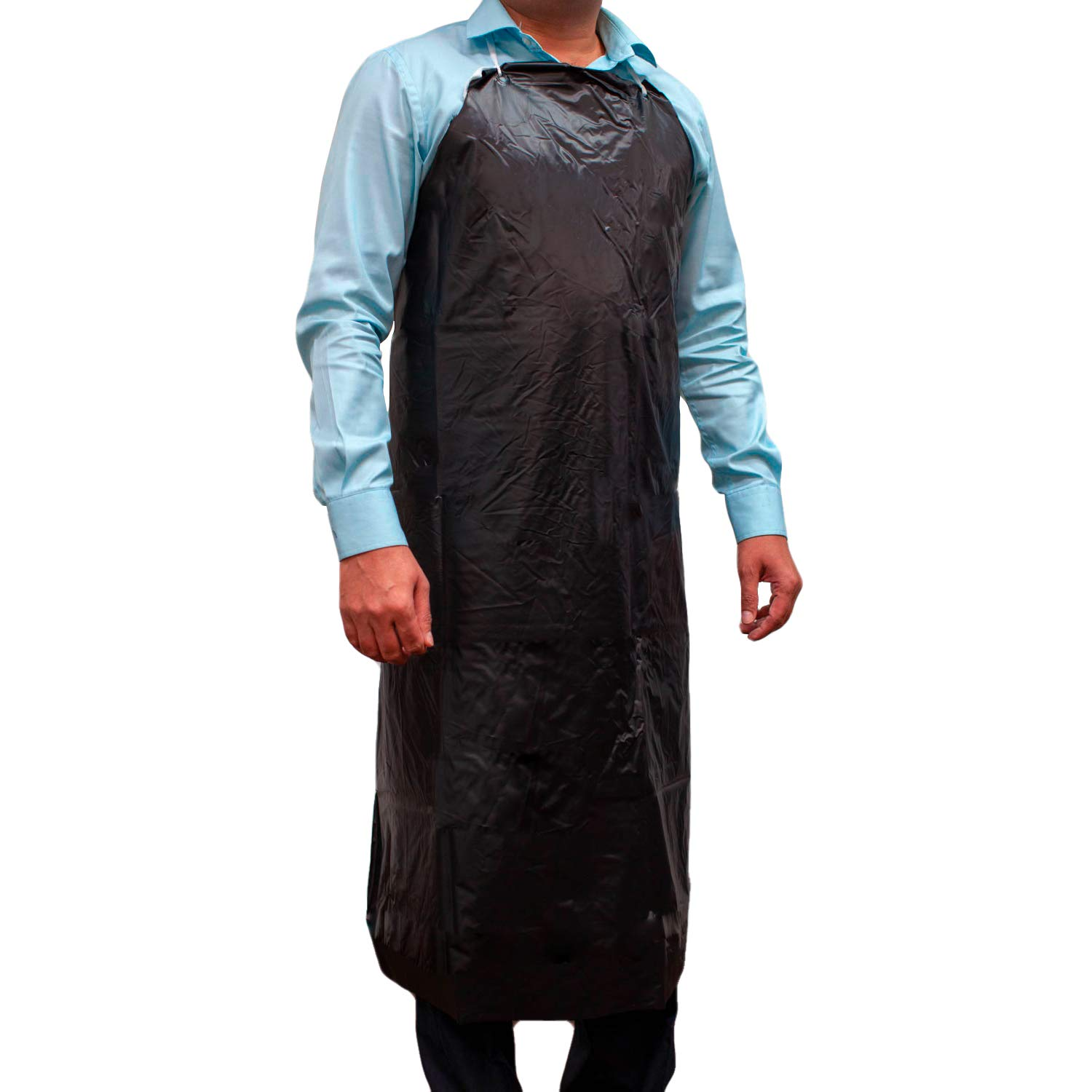 SAFE HANDLER PVC Apron | Smooth Finish to Prevent Bacterial Growth, Comfortable, Easily Adjustable, Waterproof Material, BLACK (Case of 50) by Safe Handler (Image #2)