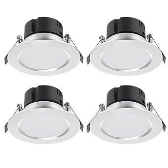 Litehaus 4 Pack 3W Einbauleuchte LED Einbaustrahler Anti Beschlag ...