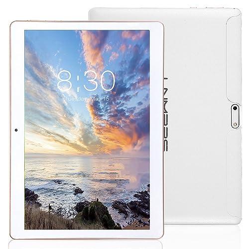 LNMBBS Tablette Tactile 10 Pouce, 2 Go de RAM, Disque Dur 32 Go (3G, WiFi,Android 7.0, OTG, GPS Support) Blanc