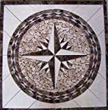 Kitchen Floor Tile Designs Marble Mosaic Floor Tile Medallion Star Design 30