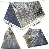 3-In-1 Emergency Survival Blanket + Tent + Sleeping Bag, Modchan Heat Reflective Waterproof Mylar Emergency Survival Thermal Shelter Tube Tent, Sleeping Bag, Blanket Survival Kits for Camping Hiking