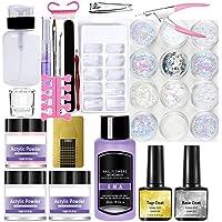 SUPYINI Acryl Nail Kit Acryl Poeder en Vloeistof Set DIY Nail Art Nail Supplies voor Beginners Acryl Nail Extension Kit
