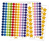 goodnight sleep tight chart - Reusable Extra Reward Stickers for Rewarding Good Behavior and Positive Reinforcement - Star Stickers, Reward Stickers: 356 Stickers in total! - 260 Smiley Face Stickers and 96 Gold Star Stickers