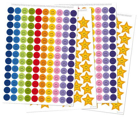 Behavior Chart Good Reward (Reusable Extra Reward Stickers for Rewarding Good Behavior and Positive Reinforcement - Star Stickers, Reward Stickers: 356 Stickers in total! - 260 Smiley Face Stickers and 96 Gold Star Stickers)