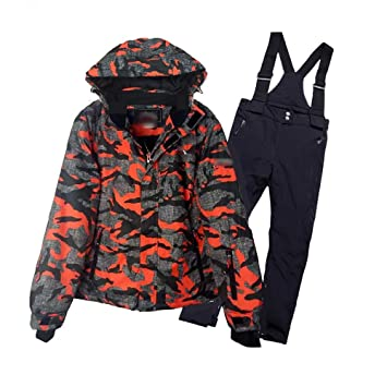 8e20a4333 Wanlianer Chaqueta de esquí Infantil Conjunto de Traje de esquí para niños  Cálido y a Prueba de Viento Impermeable Al Aire Libre Transpirable  Alpinismo ...