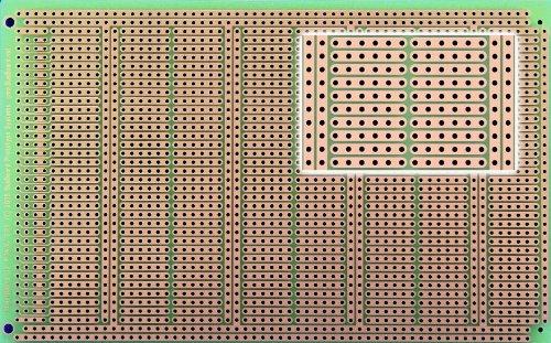 POW3U PowerBoard-3U with Power Rails, 1 Sided PCB, 3.94 x