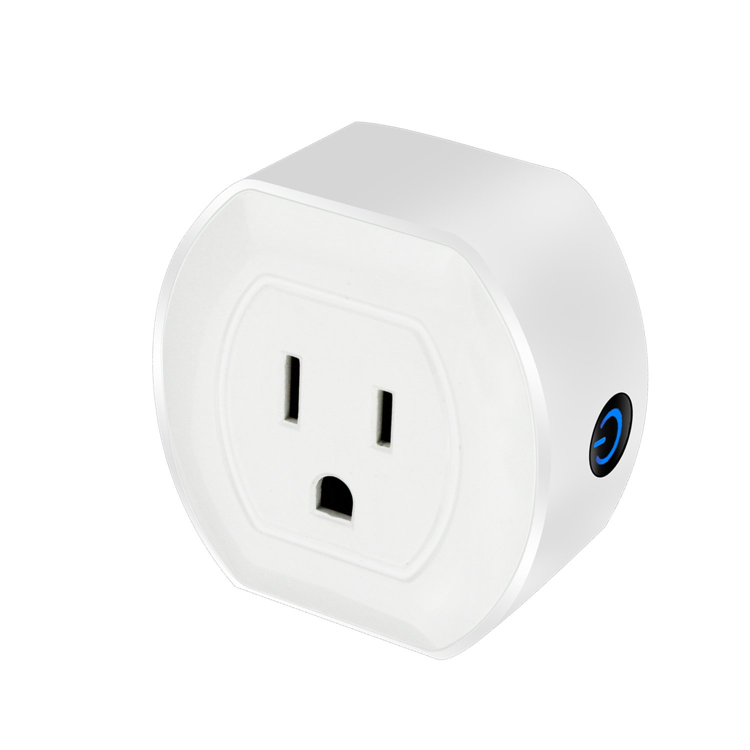 Smart Switch by TMKJ   Smart Outlet Compatible with Alexa, Google Home, IFTTT   White Mini WiFi Smart Plug   Smart Home Devices For Voice Control   No Hub Required (1Pack)