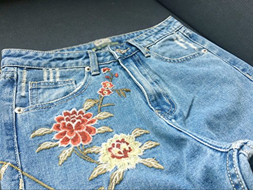 Pants Jeggings Casual Crayon Pantalons Creux Femme Stretch Sexy Yilianda Jeans Taille Bleu Pencil Hautes wqCRgYz