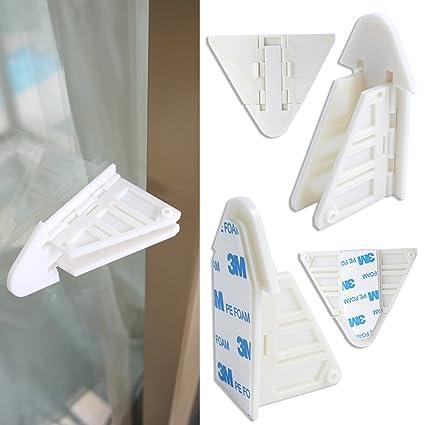 Correderas sin llave cerradura y cerradura de puerta de cristal para bebé Proofing armarios, duchas