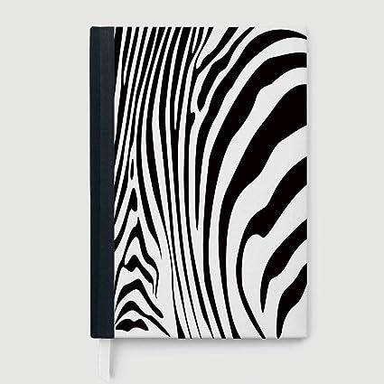 Cuadernos decorativos con estampado de rayas de cebra en color arco ...