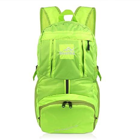 a2e462f50fdfc5 Besrina 40L Zaino Leggero Pieghevole, Idrorepellente Zaino Trekking Viaggio  per Sport all'Aperto Hiking
