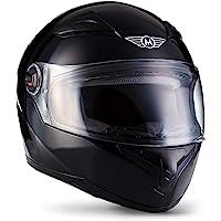 """Moto Helmets® X86 """"Gloss Black"""" · Integral-Helm · Full-Face Motorrad-Helm Roller-Helm Scooter-Helm · ECE Visier Schnellverschluss Tasche S (55-56cm)"""