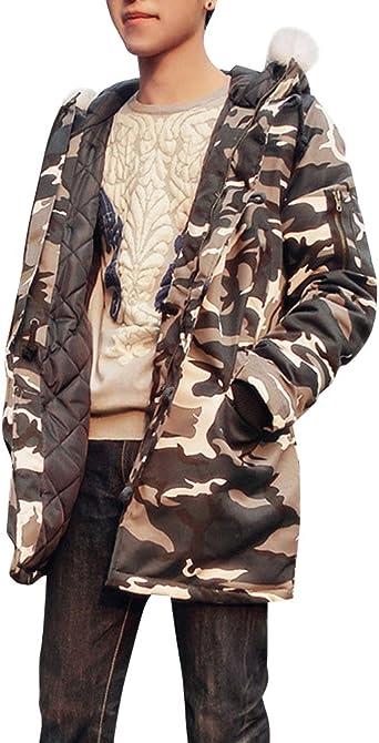 Hommes Veste À Capuche Parka Manteau Camouflage Militaire
