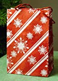 3 Seed Embedded Recycled Lotka Handmade Paper Gift Bags Holiday Christmas