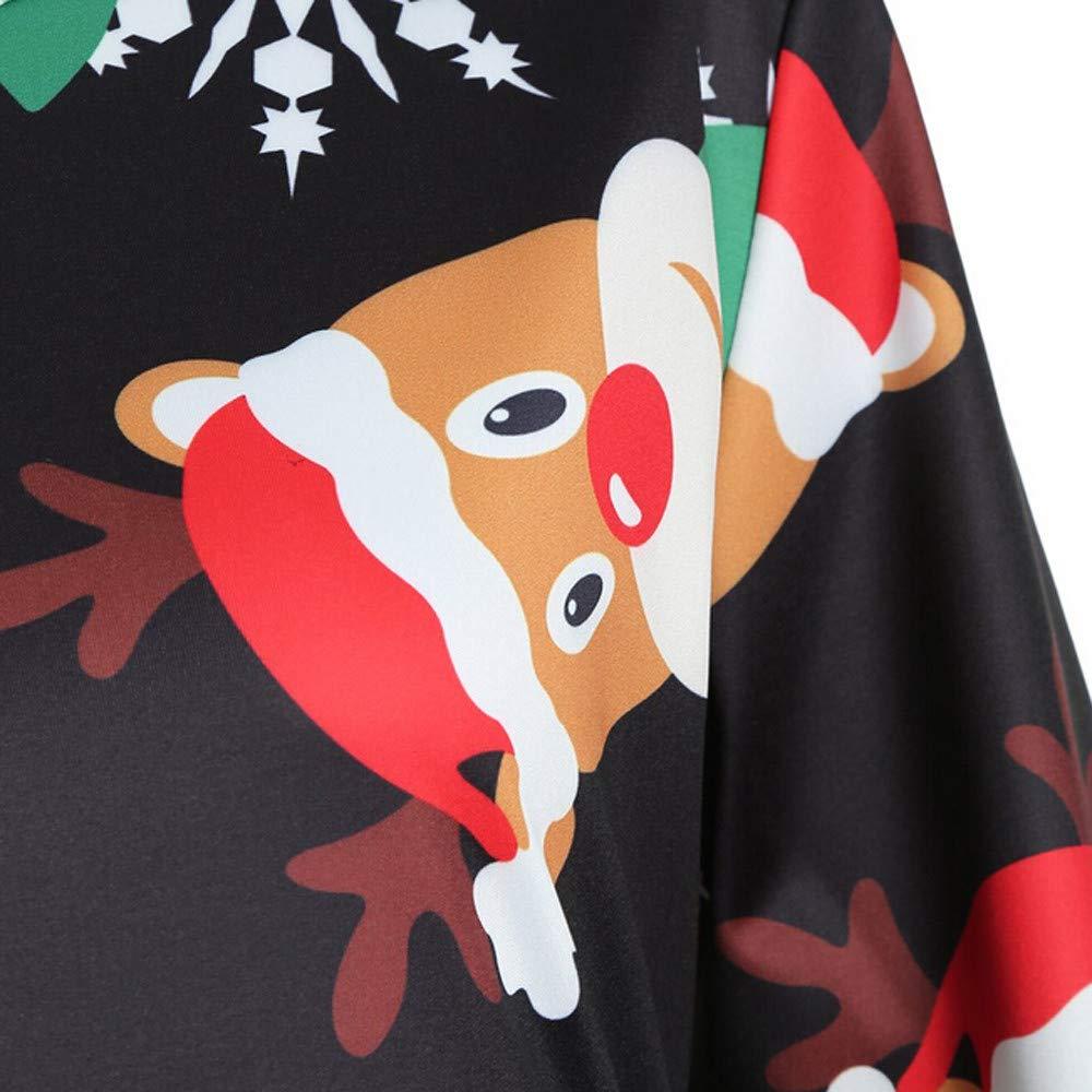 Cebbay Navidad Falda Larga Mujer Vestido de Navidad Faldas largas Vestido Estampado de Manga Larga con Vuelo La Novia de Moda Femenina es Apta para Mujeres.