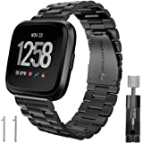 "Marvel.P for Fitbit Versa Bands, Stainless Steel Metal Replacement Bracelet Strap Bands, for 5.7""-8.27"" Wrist Men & Women, with for Fitbit Versa Sports Smart Watch Fitness, Tool Including."