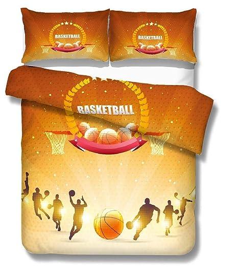 NYLIN Fundas Nórdicas Baloncesto Deportes Colcha Estampada Clavada ...