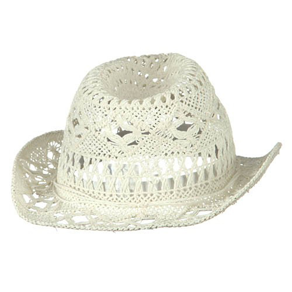 Ladies Toyo Fedora Hat - White 8b47a3d3e3f