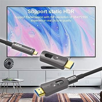 Yiwentec Hdmi Glasfaserkabel 4k 60hz Hdcp2 2 4 4 4 Elektronik