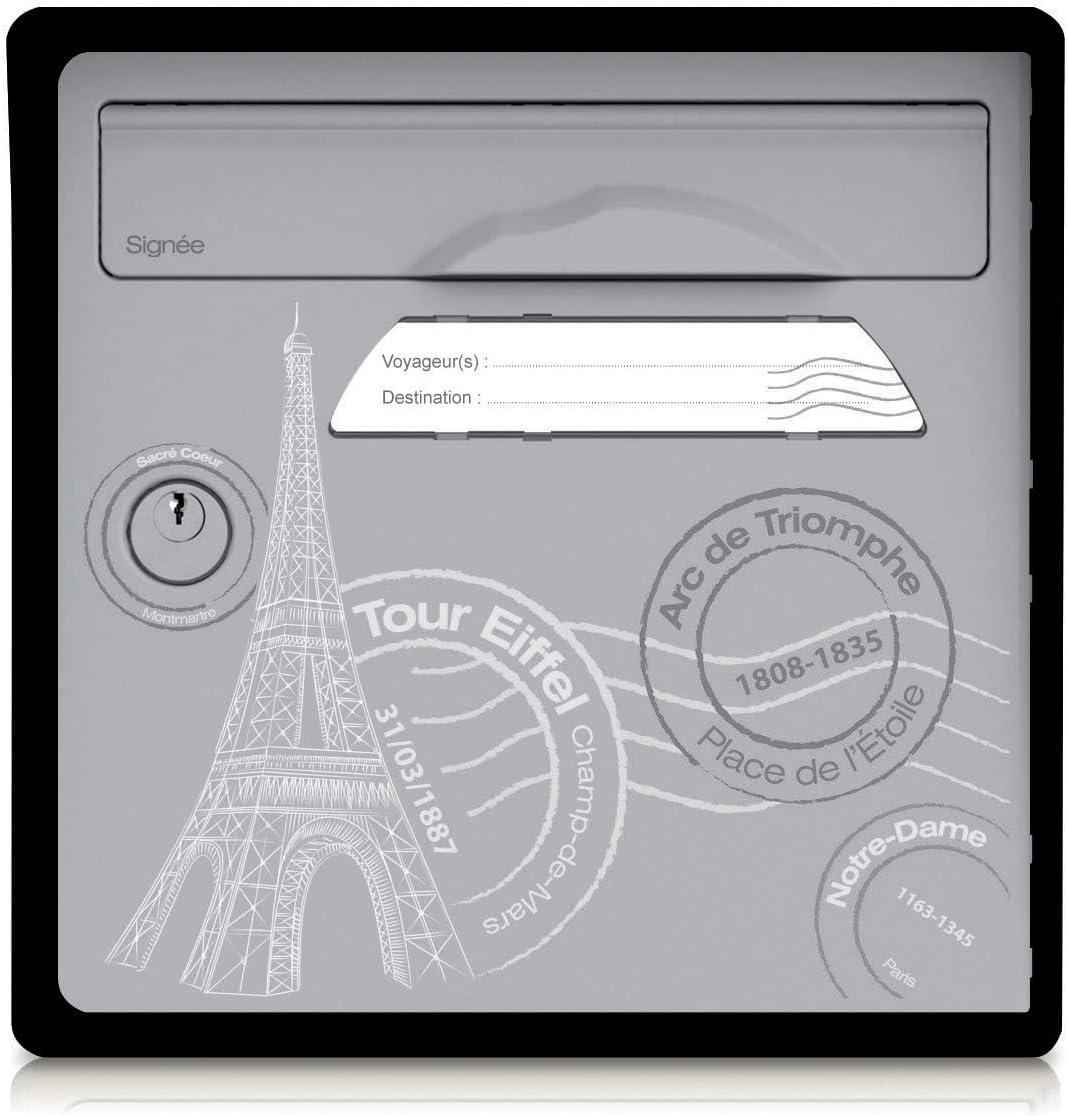 Boite aux lettres 1 porte Paris est belle Sign/ée by Concierge Blanc ivoire