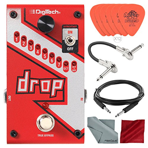 (DigiTech Drop Polyphonic Drop Tune Pitch-Shifter Pedal with Deluxe Accessory Bundle)