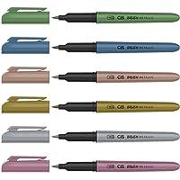 Marcador Artístico Aquarelável Metallic, CIS, Dual Brush 58.0800, Multicor, Pacote de 6