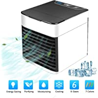 SURPCOS Personal Space Air Cooler, 3 in 1 USB Mini Portable Air Conditioning Fan, Humidifier Cooling Fan