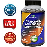 95% HCA Garcinia Cambogia Extract – Carb Blocker – Natural Weight Loss Supplement – Appetite Suppressant for Women and Men – Pure & Herbal Fat Burner – 60 Capsules – USA Made by Biogreen Labs