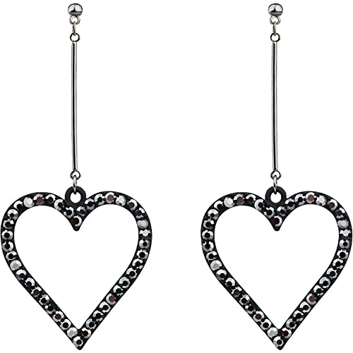 Dana Carrie 925 Sterling Silver Earrings amor rojo aguja simple temperamento femenino aretes con forma de