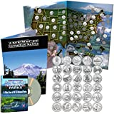 National Park Quarters Complete Date Set 2010-2015, First 30 America the Beautiful Coins in Deluxe Color Book + Free DVD