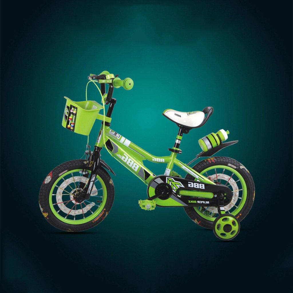 ライトホイール子供用自転車12/14/16インチベビーキャリッジ3-6-8歳の子供ペダルブルー ( Size : 14 inch green )   B07DP38GFK
