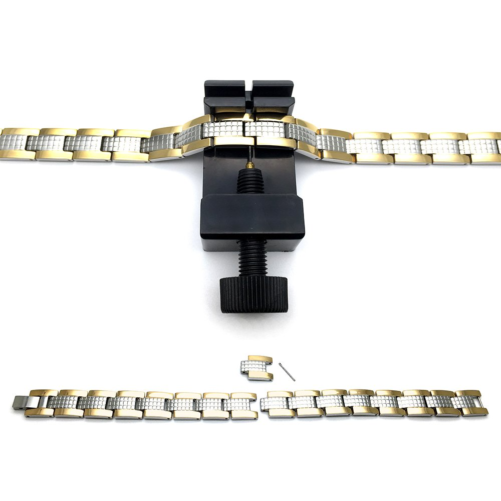 Refined Man/'s Black Titanium Energy Therapy Bracelet Strong Magnets Germanium Free Link Removal Kit