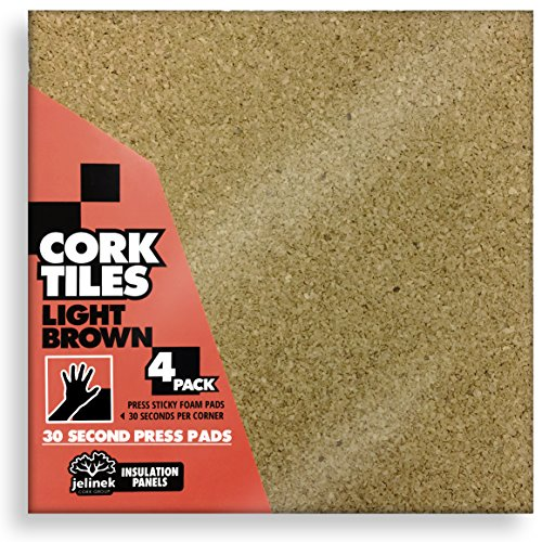 12 x 12″ Light Brown Cork Tiles